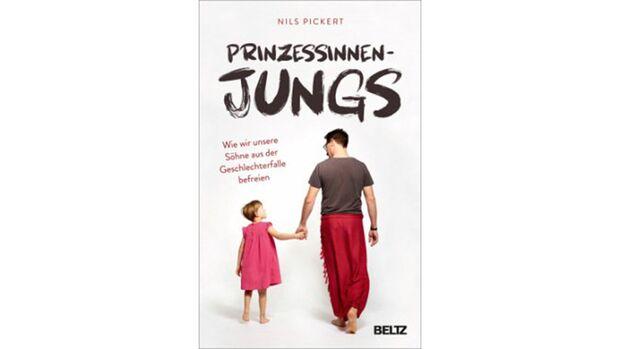Das Buch-Cover zeigt einen Vater, der seinen Sohne an der Hand trägt. Der Sohn trägt ein Kleid.