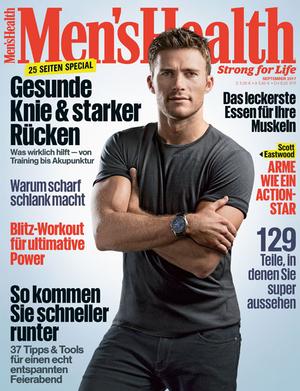 Das Cover der September-Ausgabe 2017 von Men's Health mit Scott Eastwood