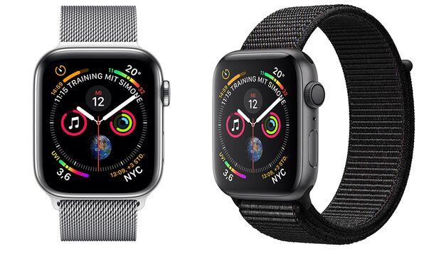 Das Display der Apple Watch 4 ist um 30 Prozent größer als bei der Apple Watch Series 3