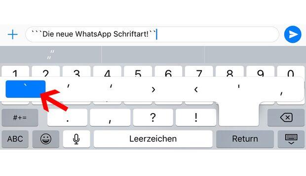 Das Gravis-Zeichen ist unter iOS ziemlich versteckt
