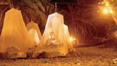 Das Nachtlager sieht zum Fürchten aus