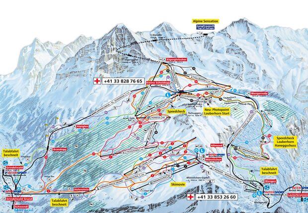 Das Skigebiet Kleine Scheidegg-Männlichen