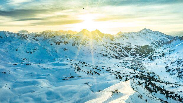 Das Skigebiet Obertauern: Wintersport auf 1630 bis 2313 Metern Seehöhe