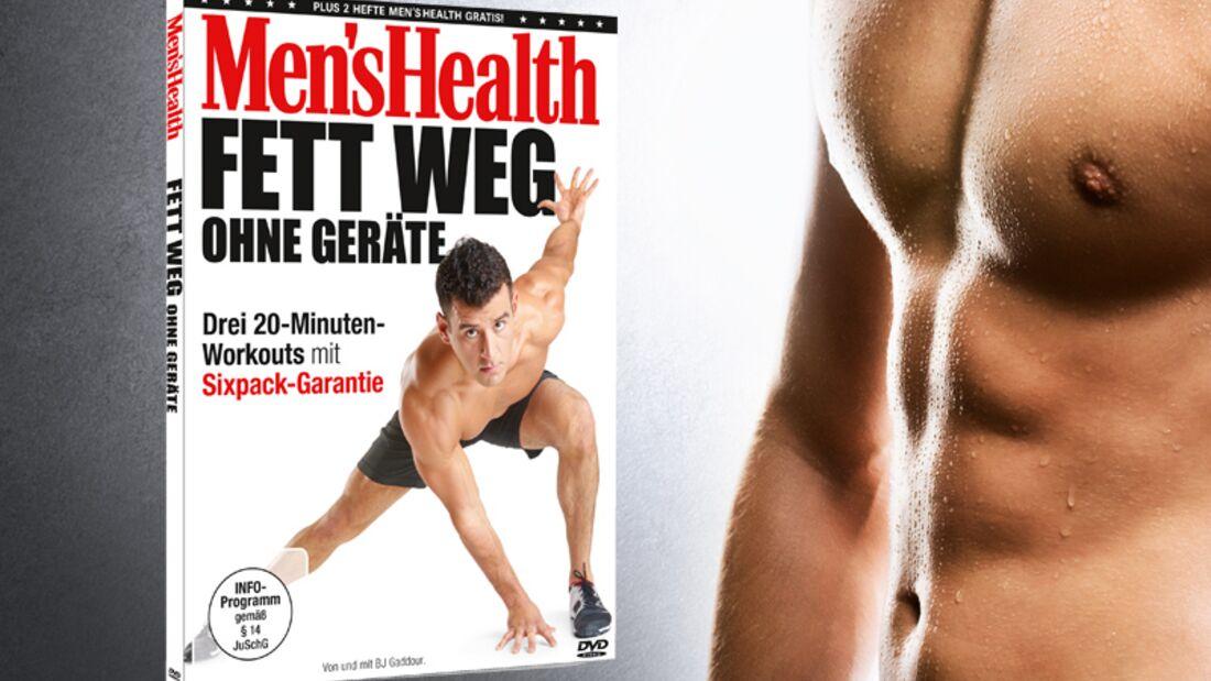 """Das neue Fatburning-Programm """"Fett weg ohne Geräte"""" von Men's Health bringt Ihren Körper mit nur 20 Minuten Training in Bestform"""