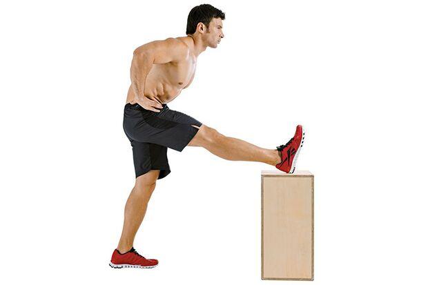 Dehnung der hinteren Oberschenkelmuskeln