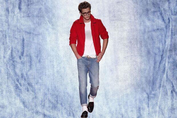 Denim-Trend: Designer-Outfit von Michael Bastian