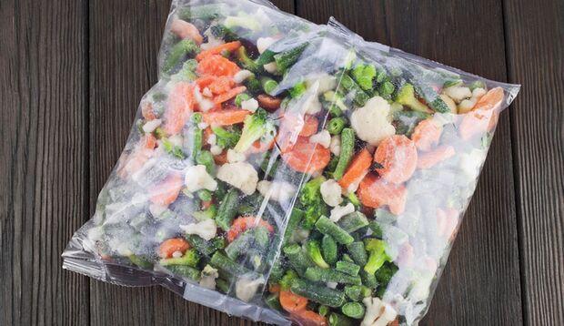 Der Star in der Tiefkühltruhe: eingefrorenes Gemüse