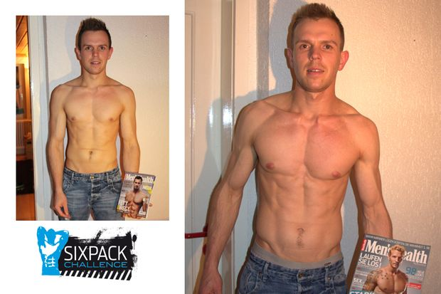 Der große Vorher-Nachher-Vergleich der Sixpack-Challenge 2015 von Men's Health