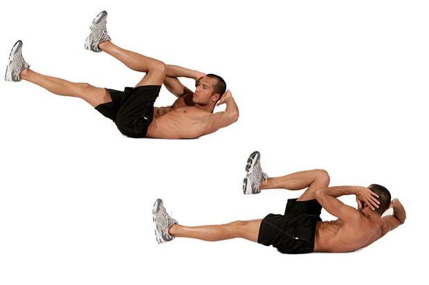 Diagonales Bein- und Schulterheben