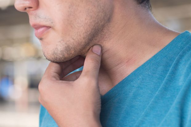 Thick neck?  It could be an enlargement of your thyroid gland