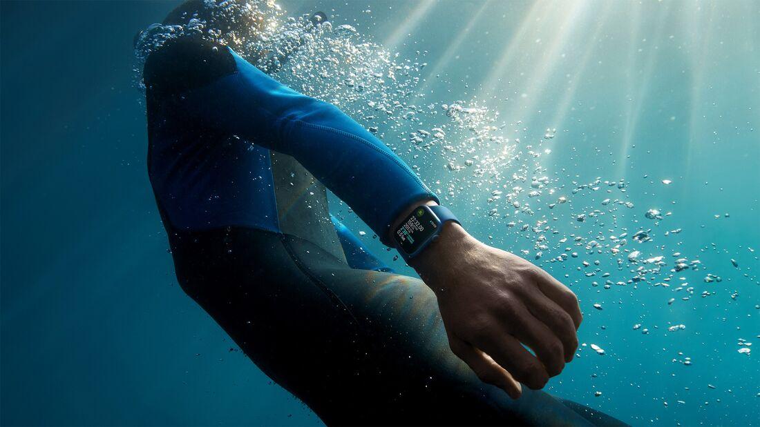 Die Apple Watch 7 ist jetzt IP6X-Standard zertifiziert, hält damit (neben Wasser) auch Staub und Sand ab