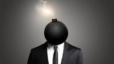 Die Bombe scheint gleich zu platzen? Versuchen Sie mit unseren Anti-Stress-Techniken gegenzusteuern