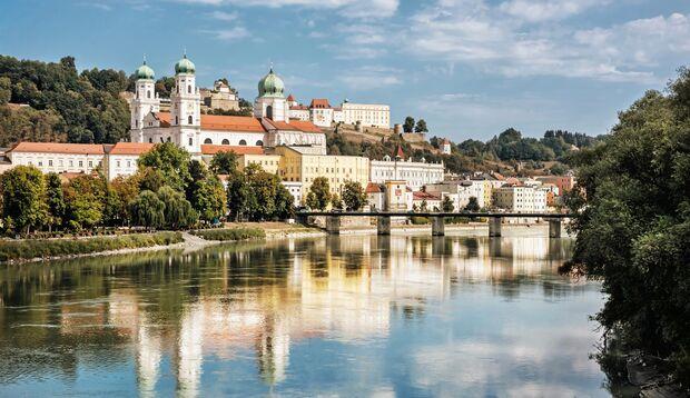 Die Dreiflüssestadt Passau an der Grenze zu Österreich: Hier endet die Reise auf der Bier- und Burgenstraße