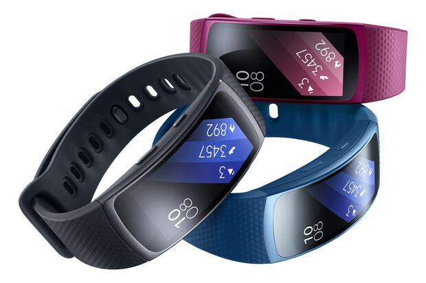 """Die """"Gear Fit 2"""" von Samsung gibt's in drei unterschiedlichen Farben"""