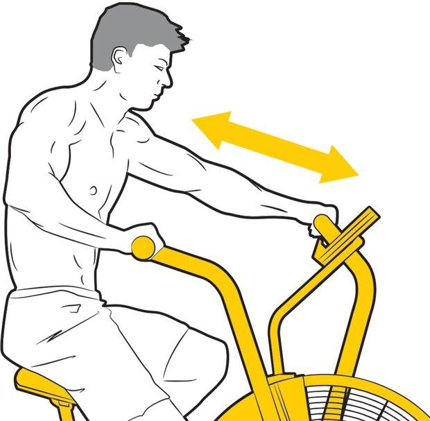 Die Griffe lassen sich am Air-Bike nicht verstellen