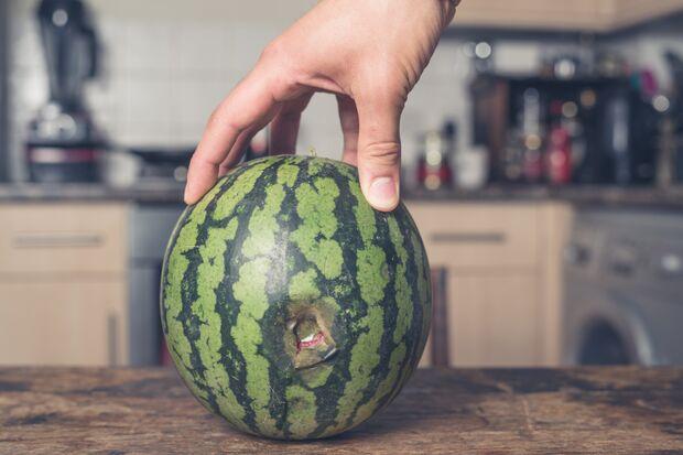 Die Melone wird als Masturbator zweckentfremdet