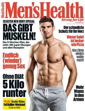 Die Oktober-Ausgabe der Men's Health