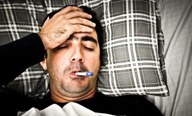 Die Symptome einer Erkältung sind meist nachts am schlimmsten
