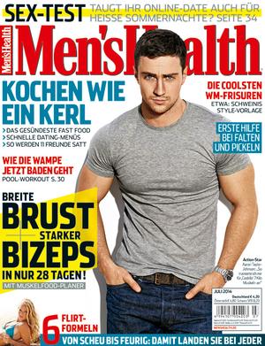 Die Titelseite der Juli-Ausgabe 2014 von Men's Health