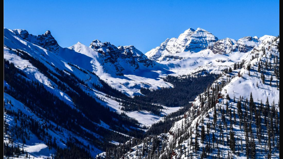 Die Winterlandschaft um Aspen im US-Bundesstaat Colorado