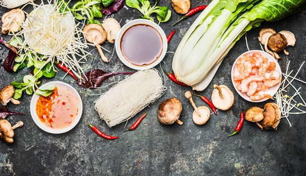 Die asiatische Küche ist bunt und frisch
