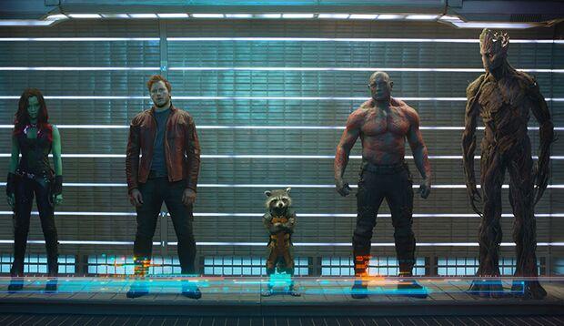 Die besten 10 Männerfilme 2014: Guardians of the Galaxy