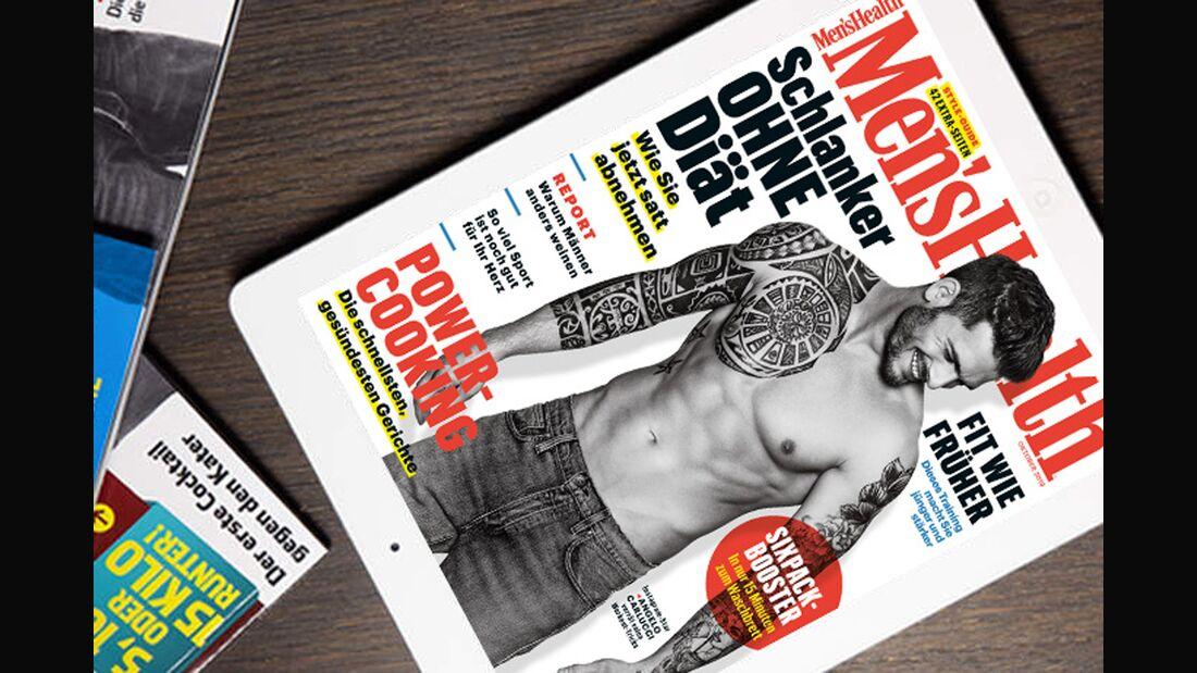 Die digitale Oktober-Ausgabe von Men's Health