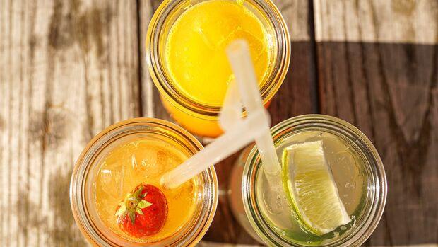 Die meisten Getränke sind säurehaltig