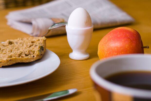 Eier werden durch die Eigentemperatur hart
