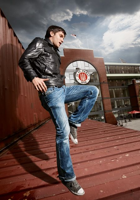 Ein Mann sieht rund: Florian Bruns vom FC St. Pauli