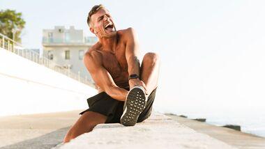 Ein Muskel Faserriss kann sehr schmerzhaft sein