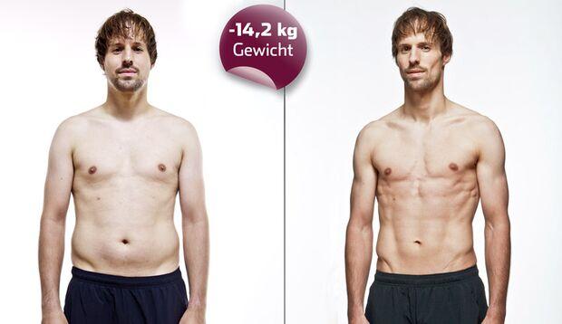 Endlich Waschbrettbauch: Jens hat über 14 Kilo abgespeckt