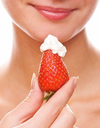 Erdbeeren lieber ohne Sahne