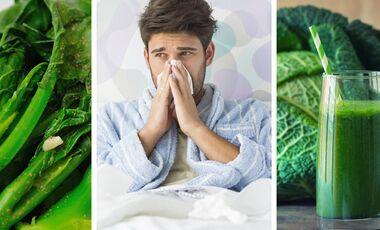Erkältet? Grünes Blattgemüse hilft Ihnen wieder fit zu werden