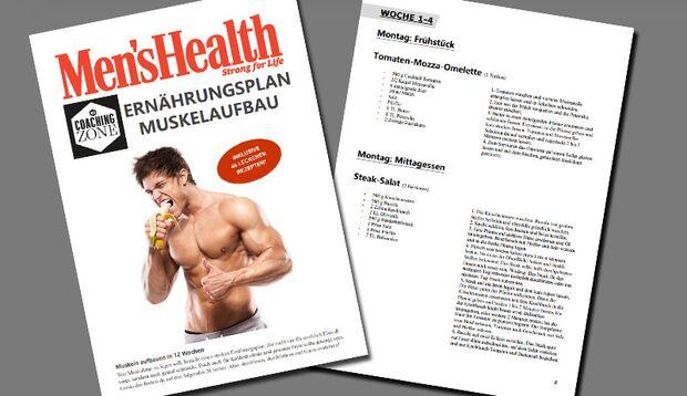 Ernährungsplan: Muskelaufbau in 12 Wochen