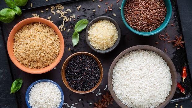 Es gibt viele verschiedene Reissorten