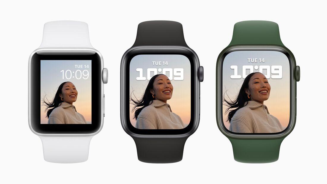 Es wird die Apple Watch 7 in den Größen 41 mm und 45 mm geben