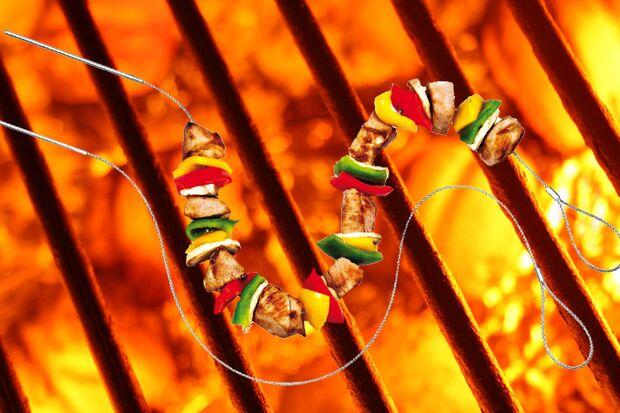 Fexible Grill-Spieße von Küchenprofi