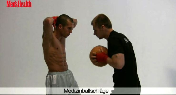 Fitness-Boxen: MEDIZINBALL-SCHLÄGE