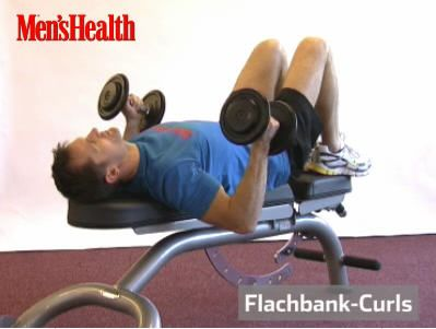 Flachbank-Curls Trainingsvideo