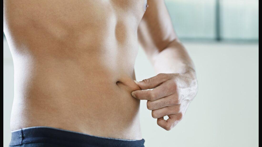 Folie um den Bauch hemmt die Transpiration