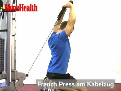 French Press am Kabelzug Trainingsvideo