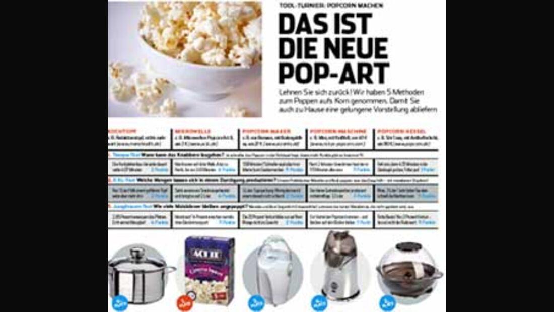 Fünf Methoden zum Popcornmachen im Vergleich