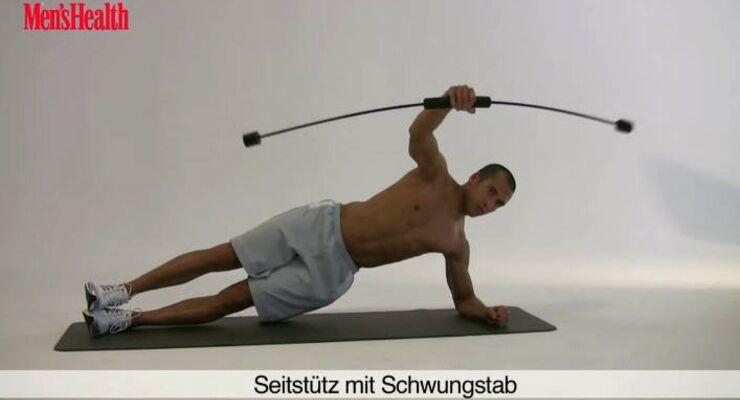 Funtional Training: SEITSTÜTZ MIT SCHWUNGSTAB