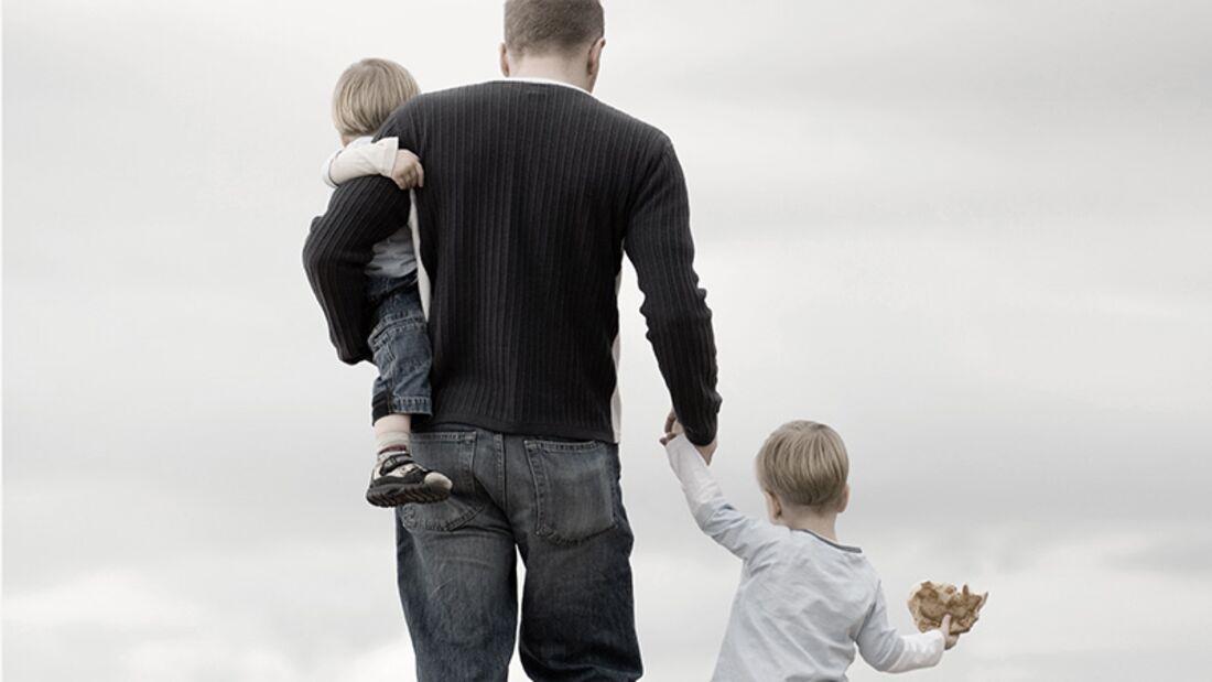 Glücklich vereint: Vater und Tochter