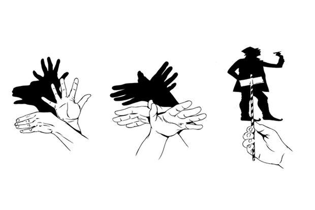 Handgriffe für Väter: Schattenspiele mit den Händen