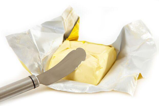Harte Butter lässt sich schwer portionieren