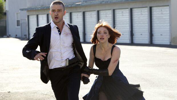 """Haste mal 'ne Minute? Justin Timberlake muss für alles mit seiner Lebenszeit bezahlen. Wir sagen, ob der stylische Science-Fiction-Film """"In Time"""" den Nerv der Zeit trifft"""