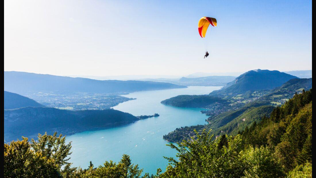 Hier ist Paragliding angesagt