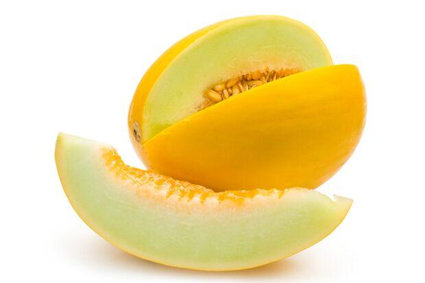 Honigmelonen liefern pro 100 Gramm nur 54 Kalorien